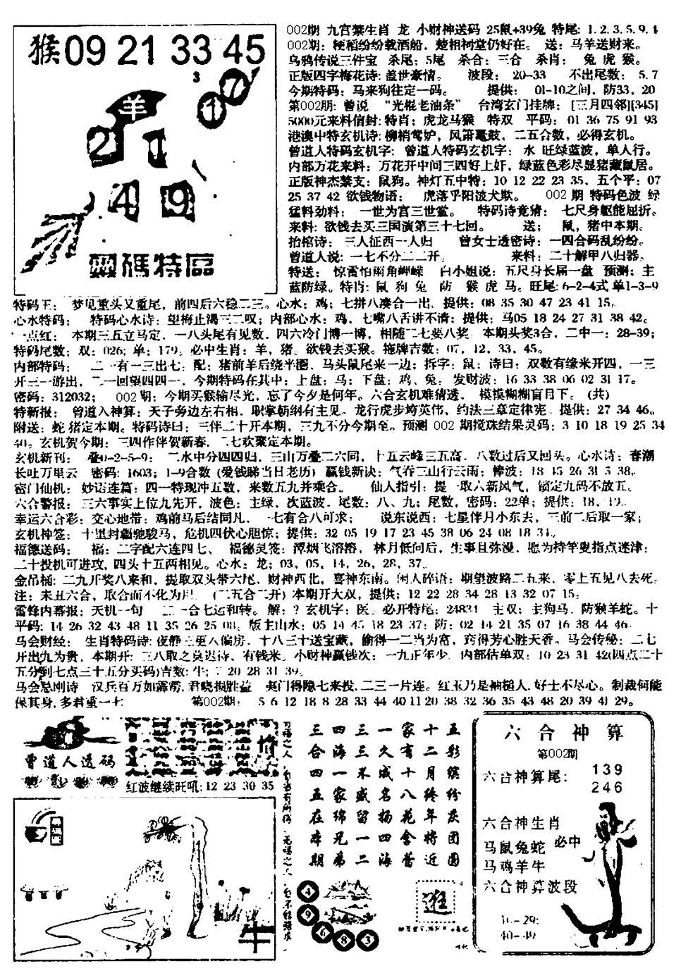 002期平西版彩霸王B(黑白)