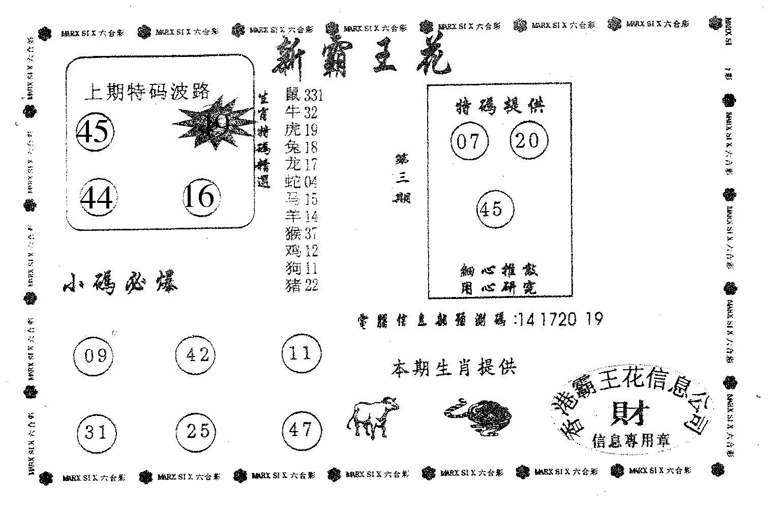 002期新霸王花(黑白)