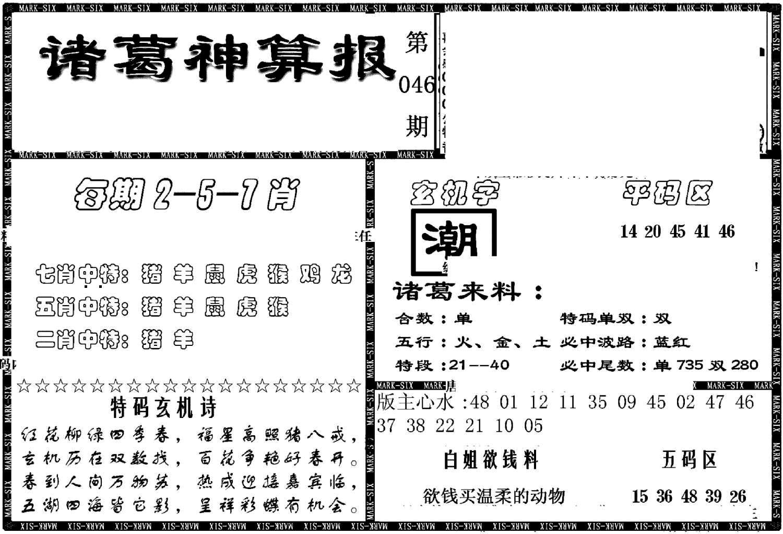 046期另新诸葛神算报(黑白)