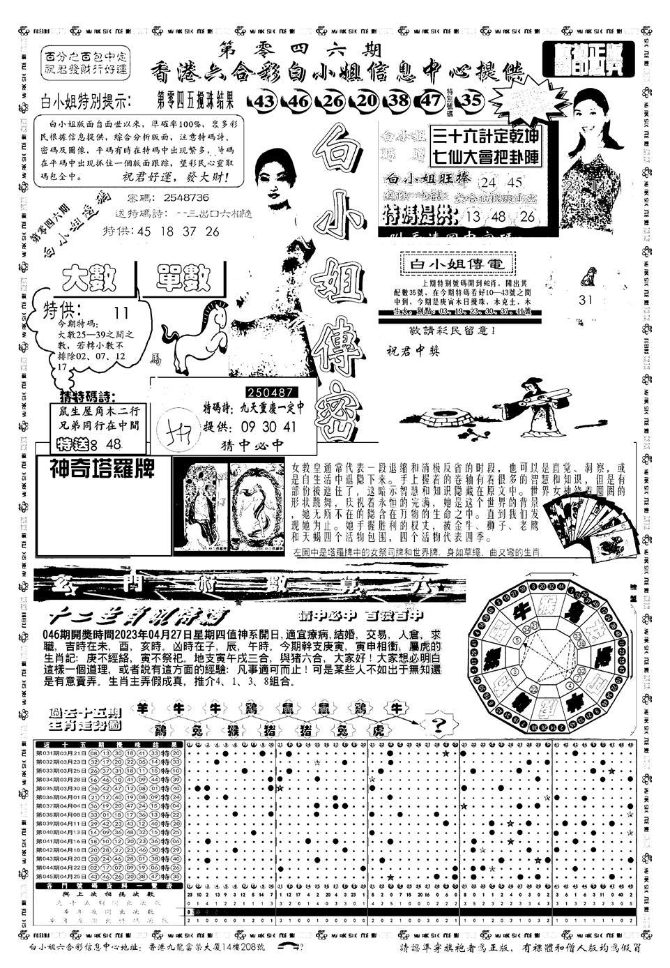 046期新版白小姐祺袍A(黑白)