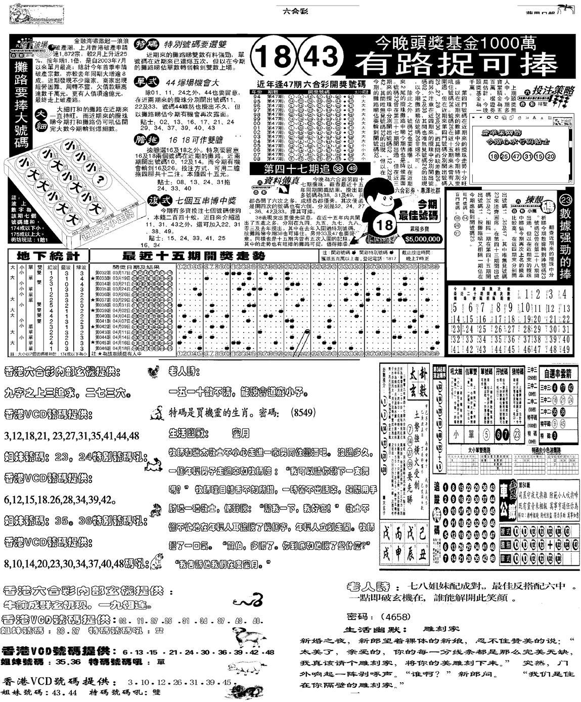 047期当日报-5(黑白)