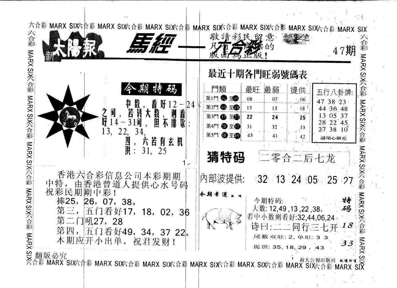 047期另版太阳报(黑白)