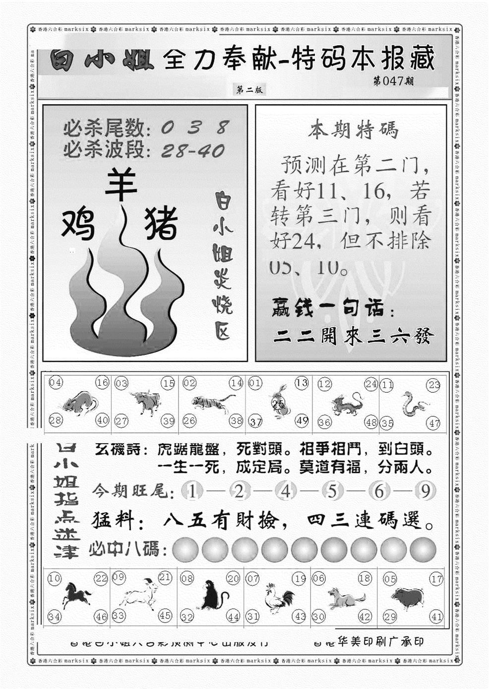 047期白小姐救世民B(黑白)
