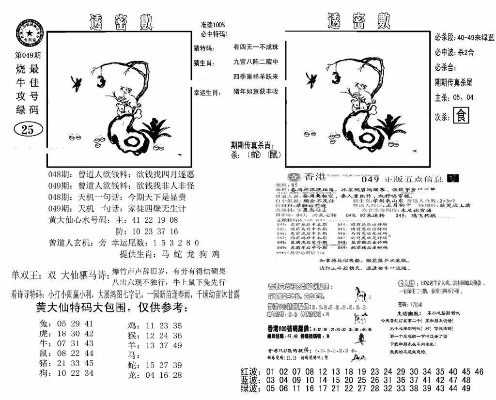 049期诸葛透密数(黑白)