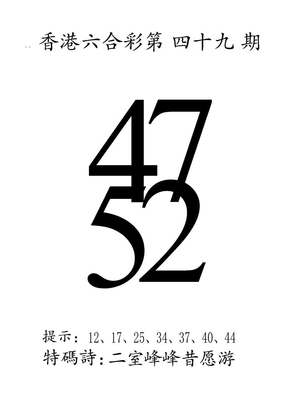 049期澳门三合王B(黑白)