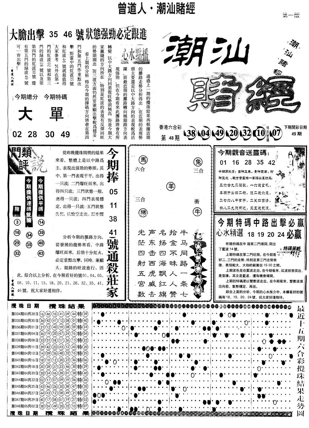 049期另版潮汕赌经A(黑白)