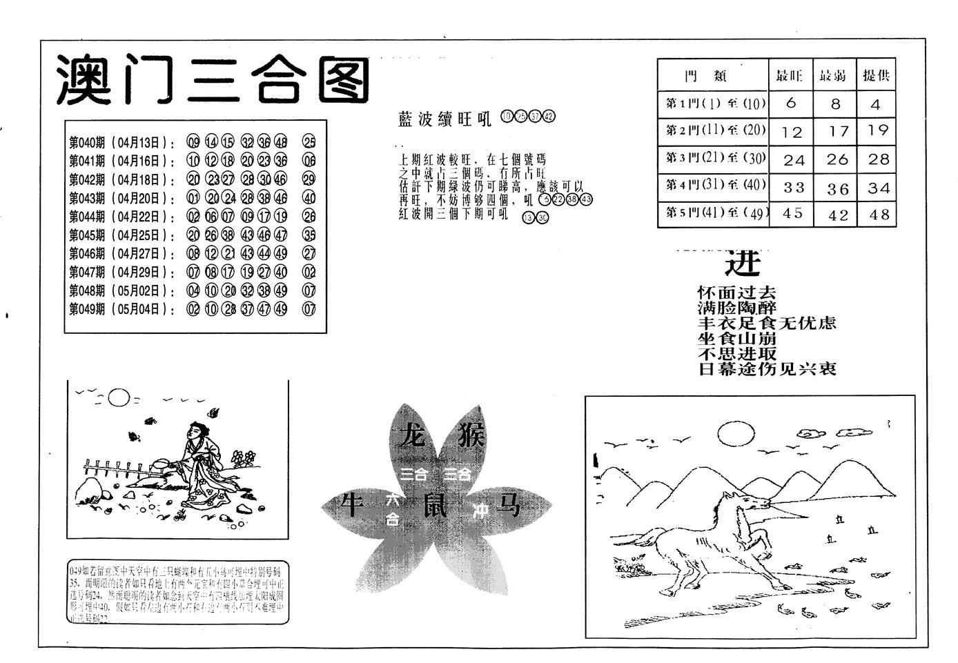 050期老潮汕台湾神算(黑白)