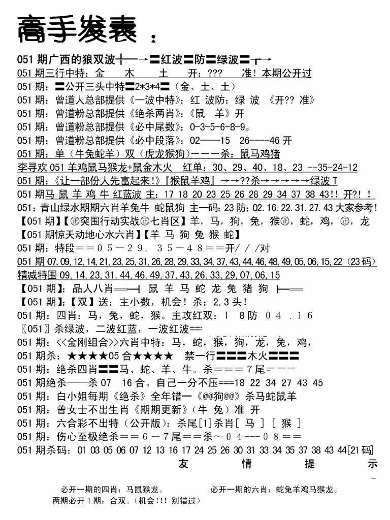 051期高手发表(黑白)