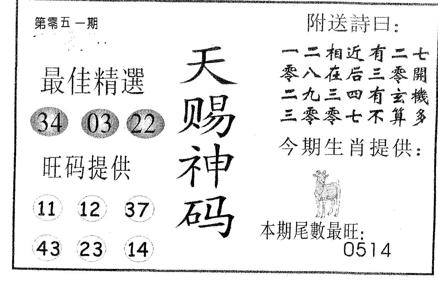 051期天赐神码(黑白)