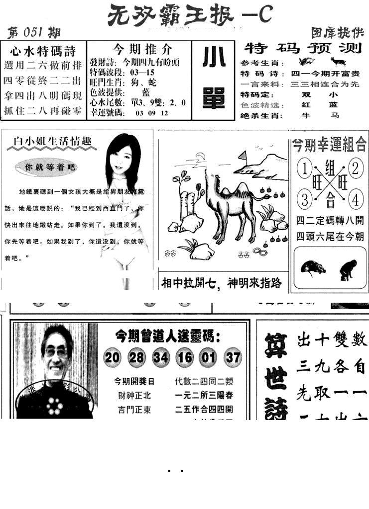 051期无双霸王报C(黑白)
