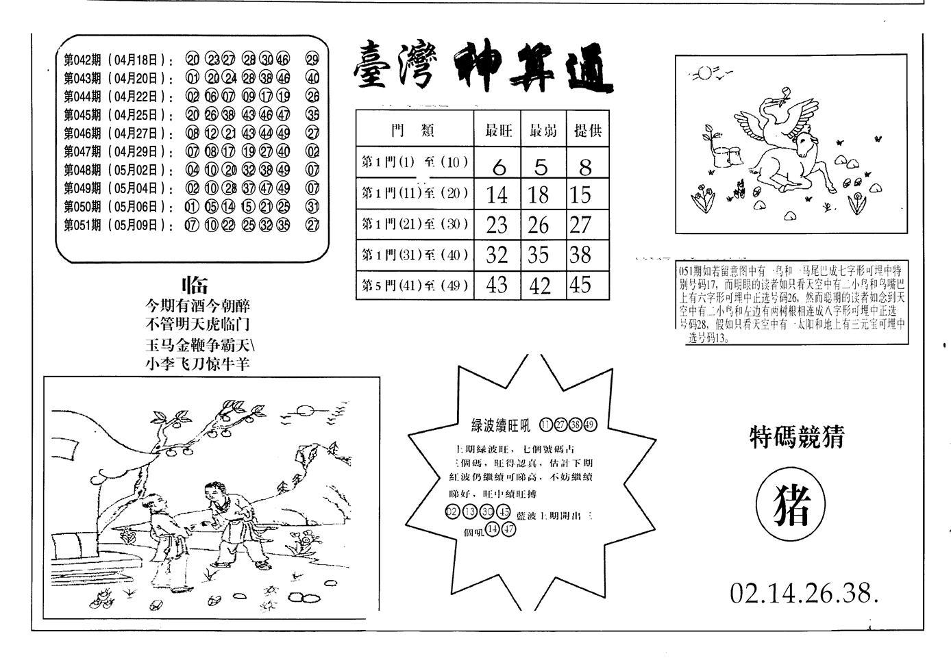 052期老潮汕台湾神算(黑白)