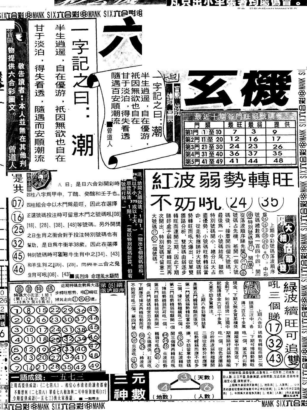 052期假新报跑狗B(黑白)