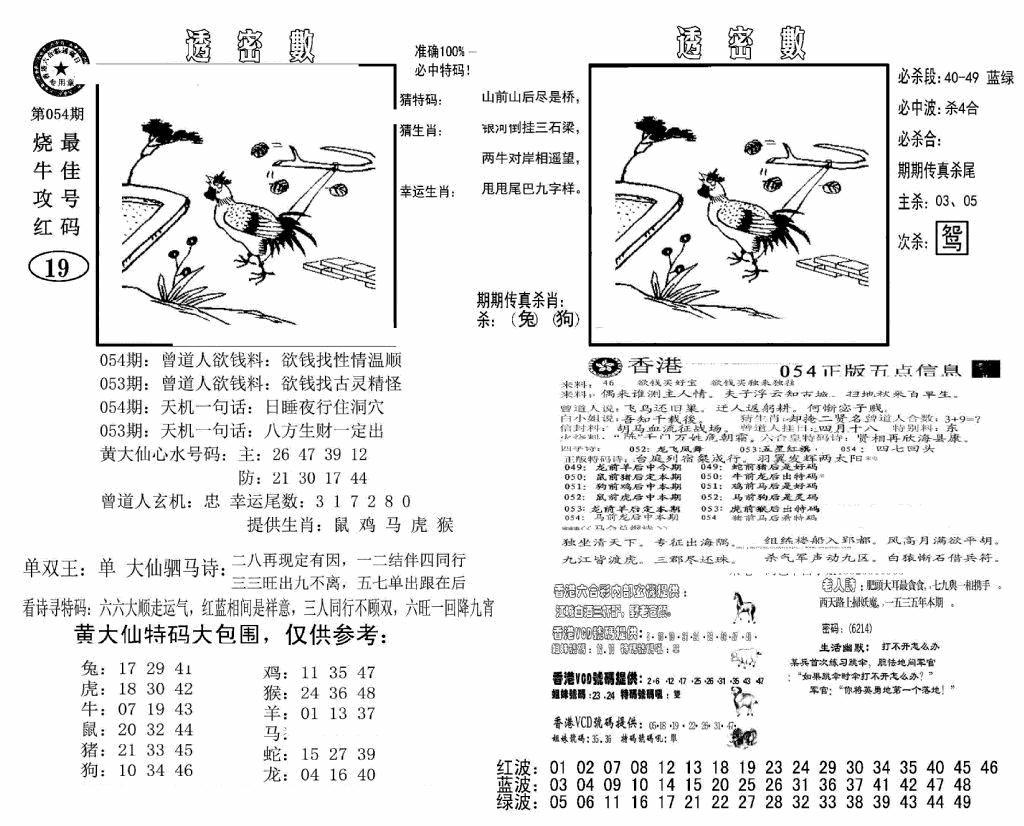 054期诸葛透密数(黑白)