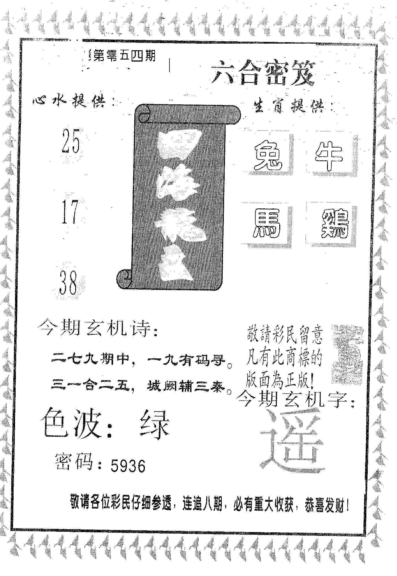 054期四海龙王(黑白)