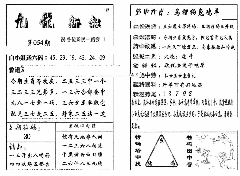 054期九龙新报(生肖版)(黑白)