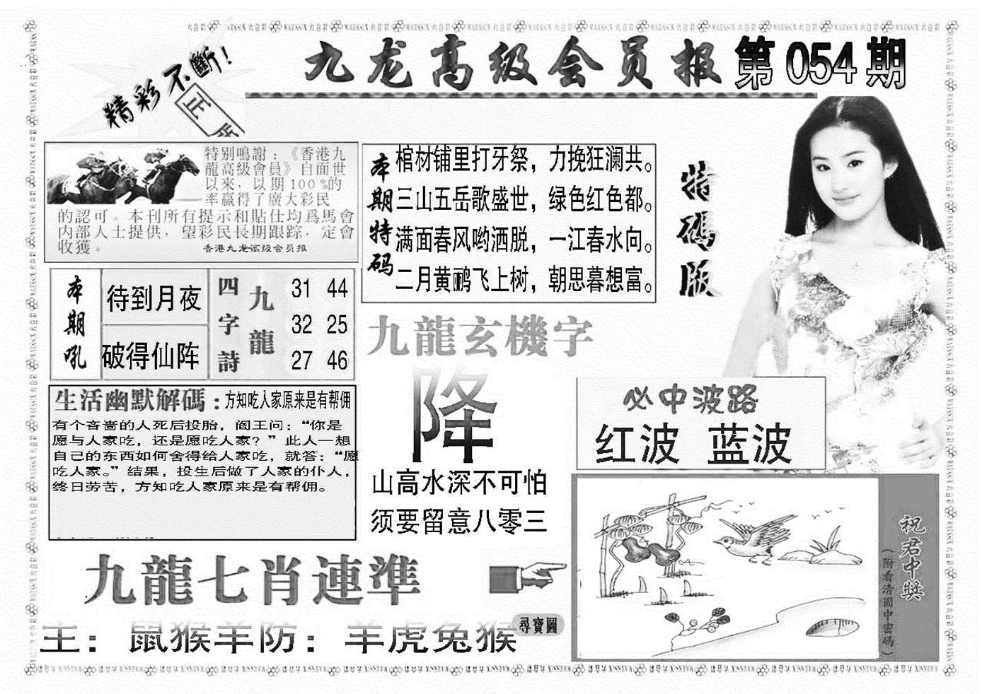 054期九龙高级会员报(黑白)