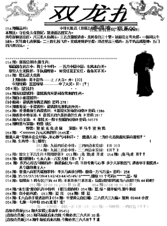 054期双龙报A(黑白)