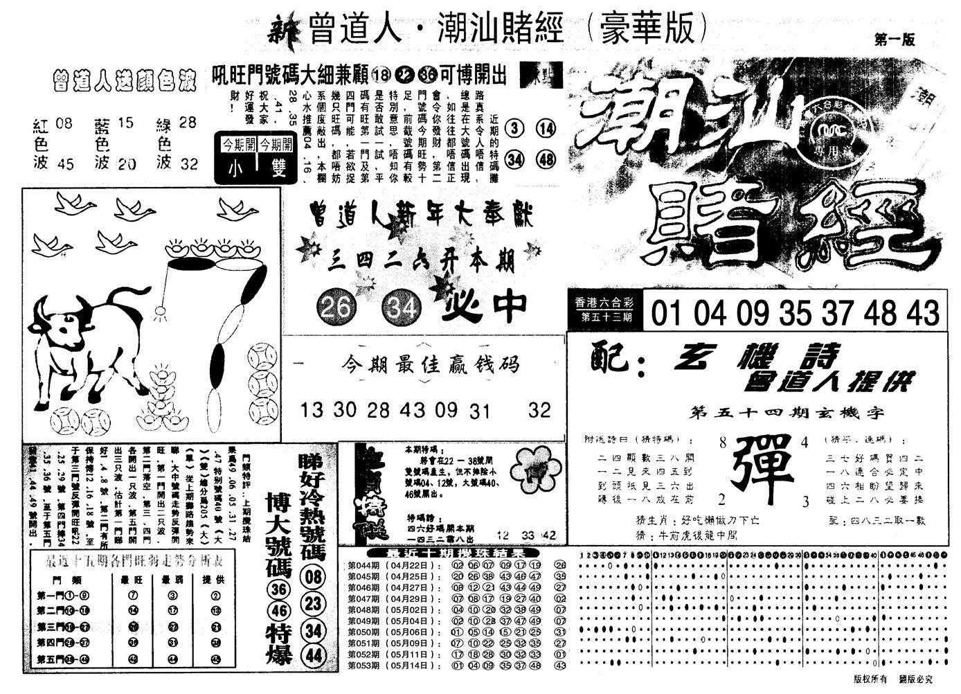 054期另潮汕赌经濠华版A(黑白)