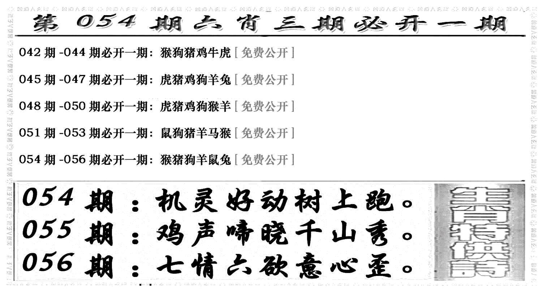 054期六合兴奋剂(黑白)