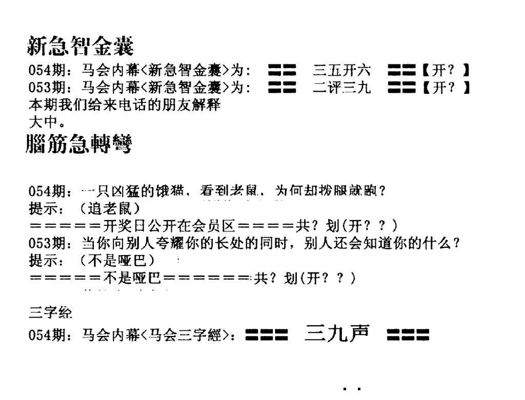 054期新急智金囊(黑白)