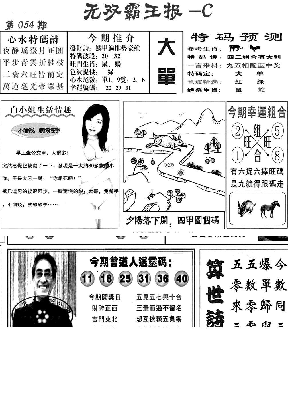 054期无双霸王报C(黑白)