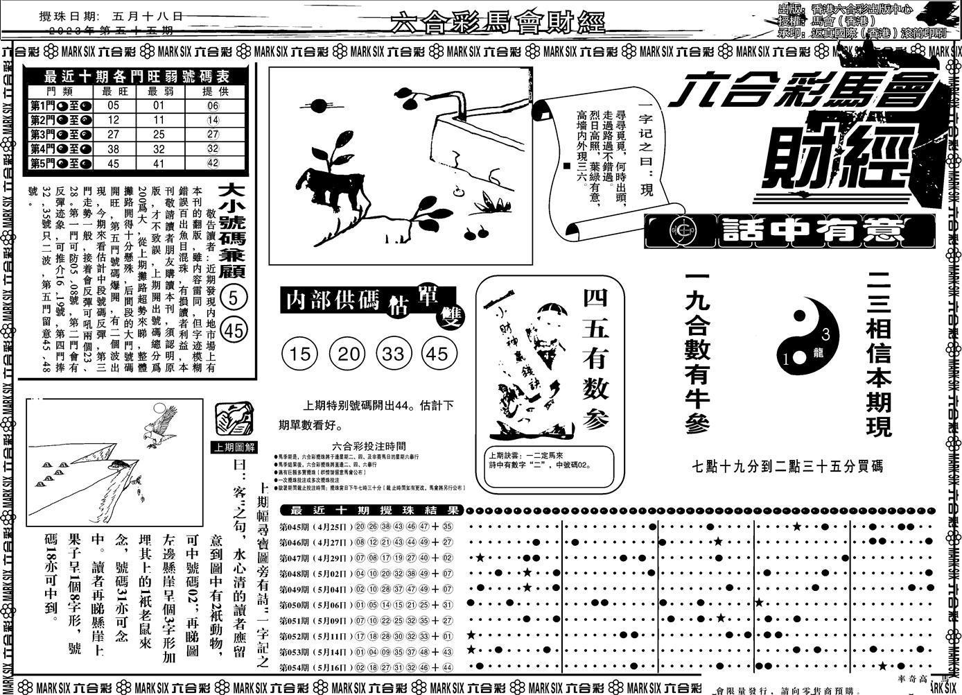 055期马会财经A(黑白)