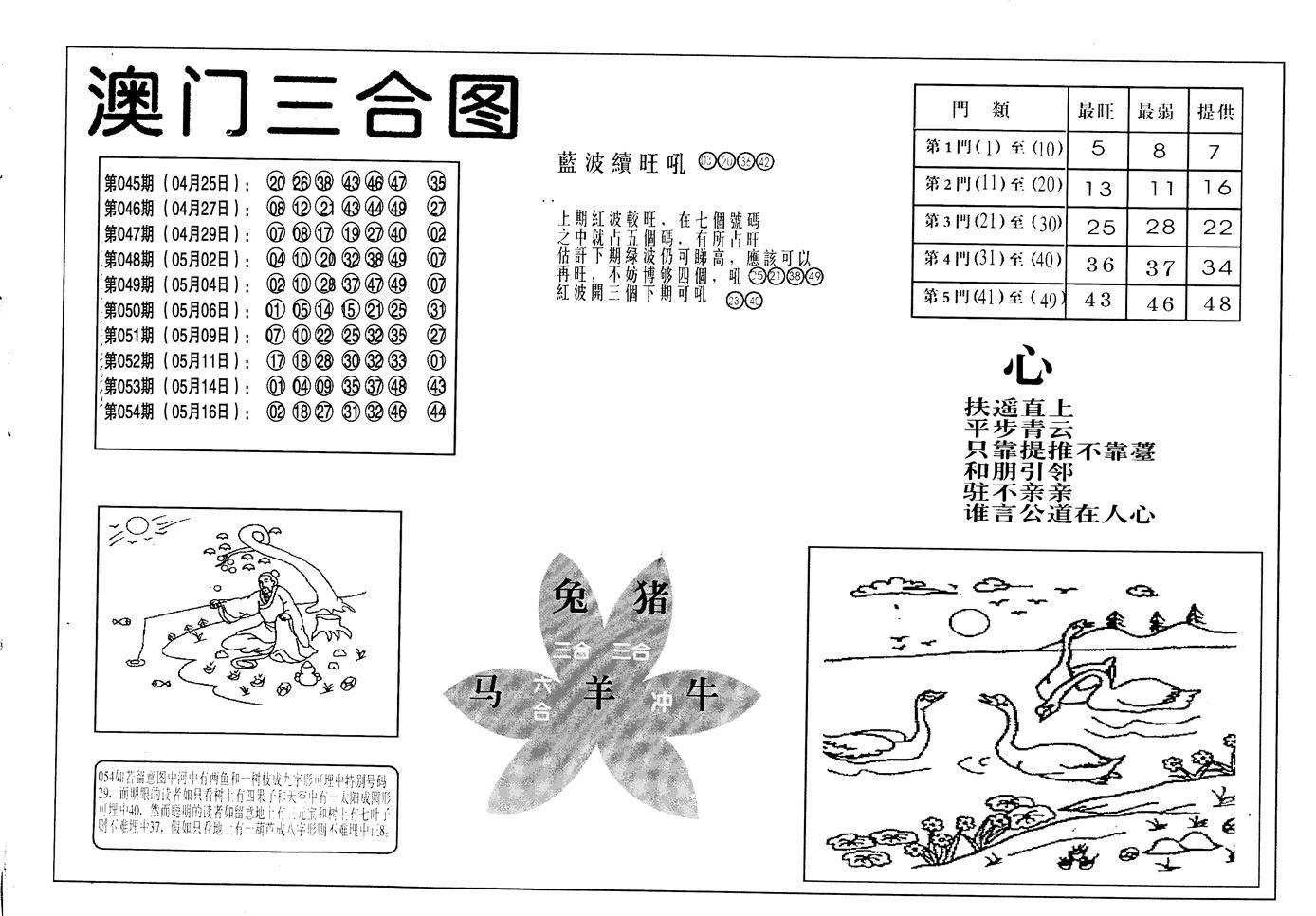 055期老潮汕台湾神算(黑白)