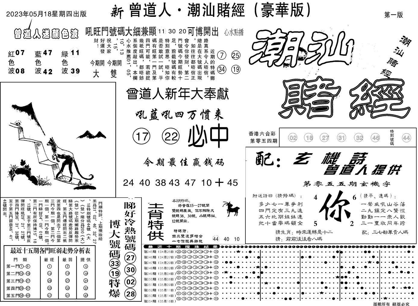 055期潮汕赌经濠华版A(黑白)