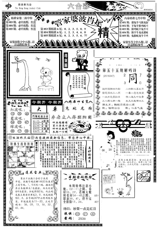 055期管家婆-波肖尾版(热)(黑白)