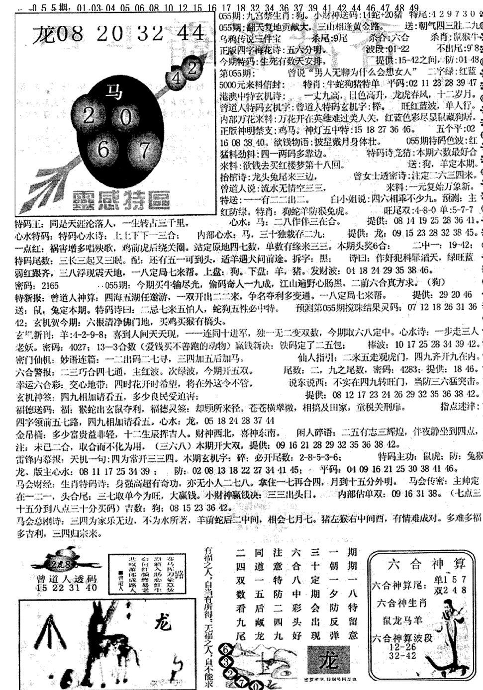055期平西版彩霸王B(黑白)