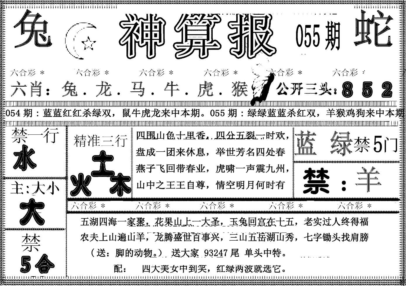 055期另神算报(黑白)