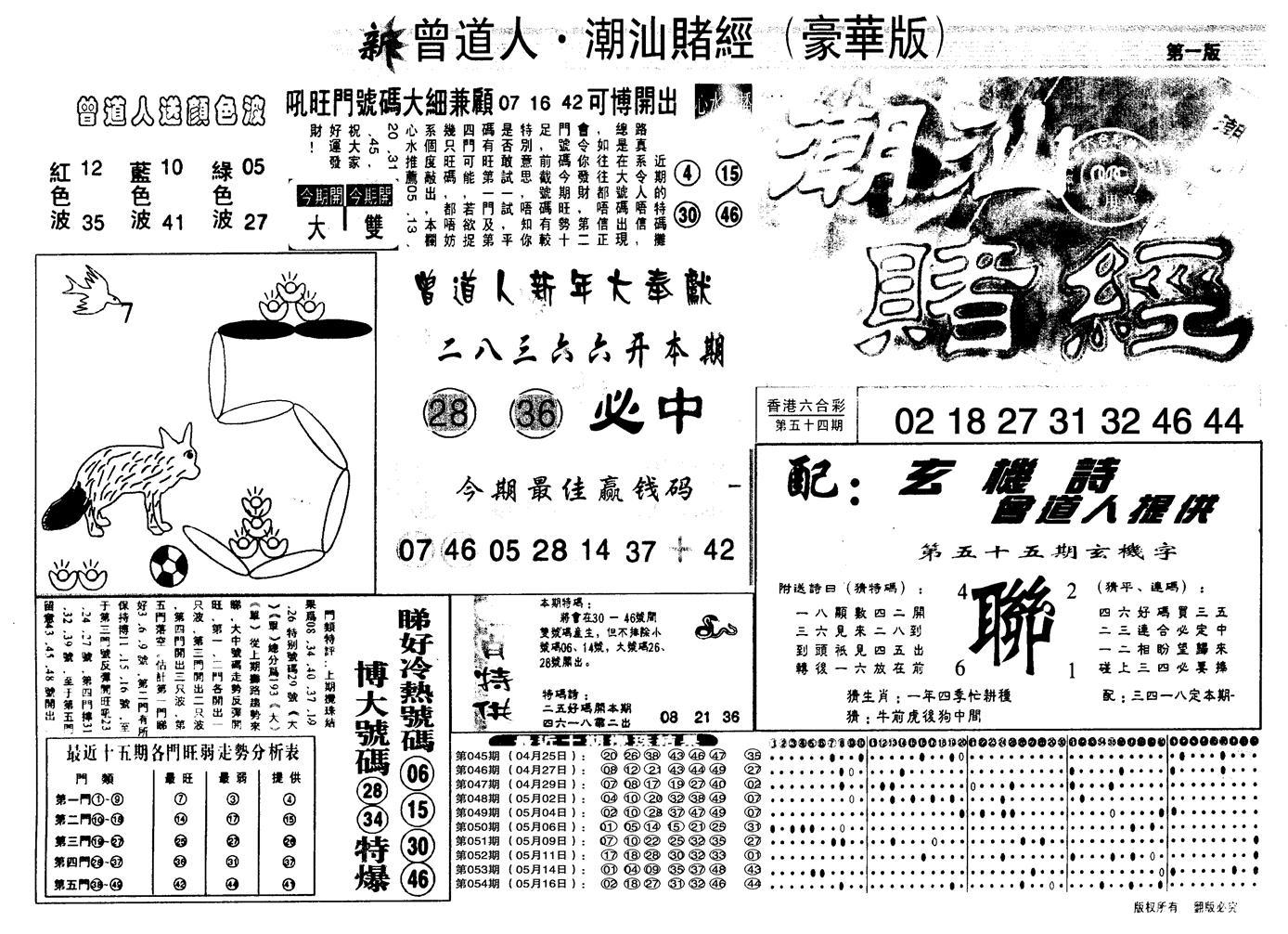 055期另潮汕赌经濠华版A(黑白)
