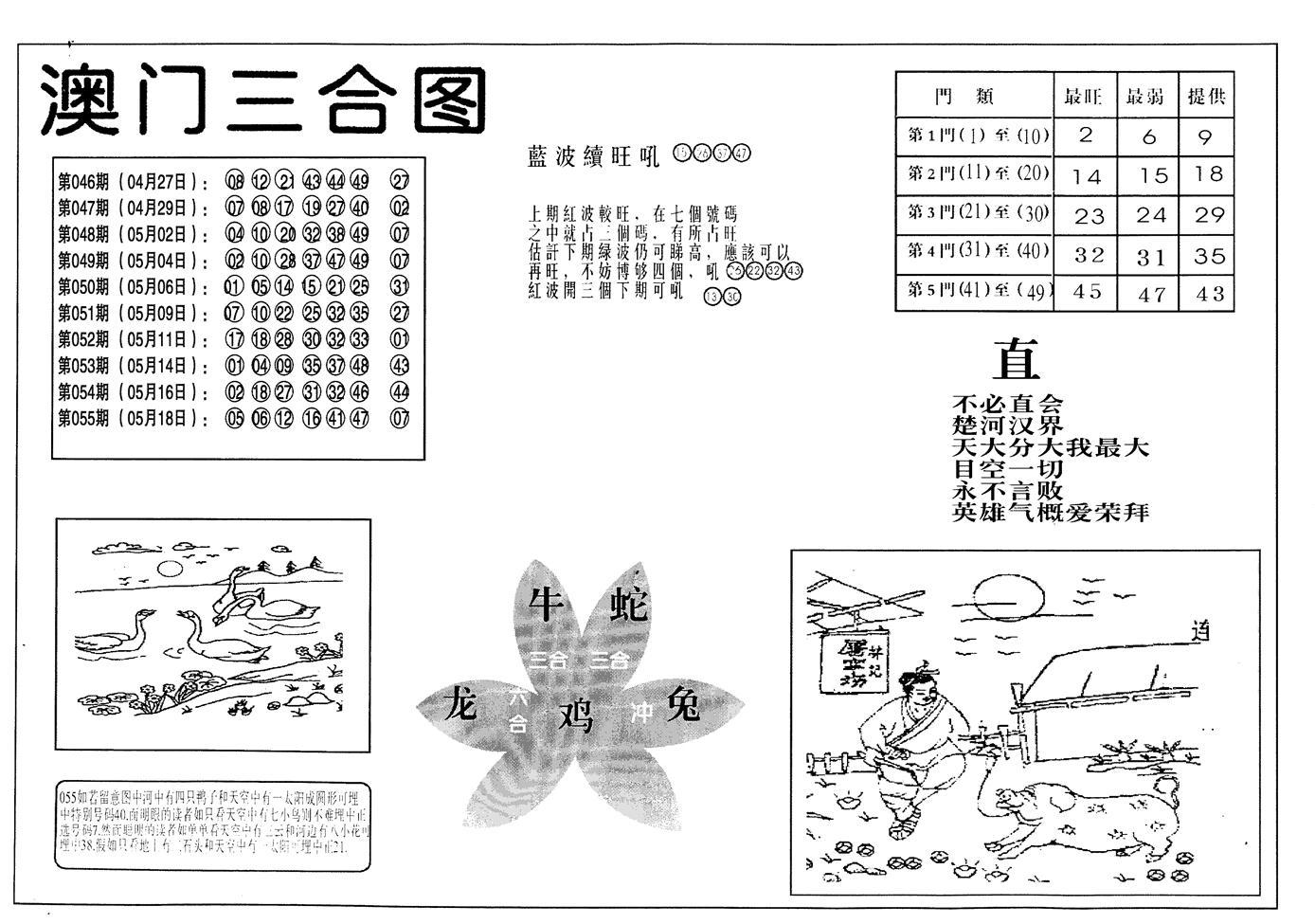 056期老潮汕台湾神算(黑白)