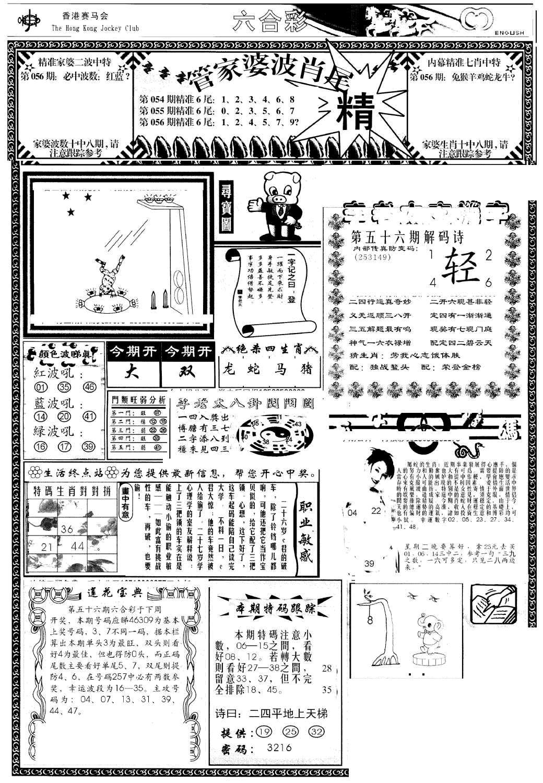 056期管家婆-波肖尾版(热)(黑白)