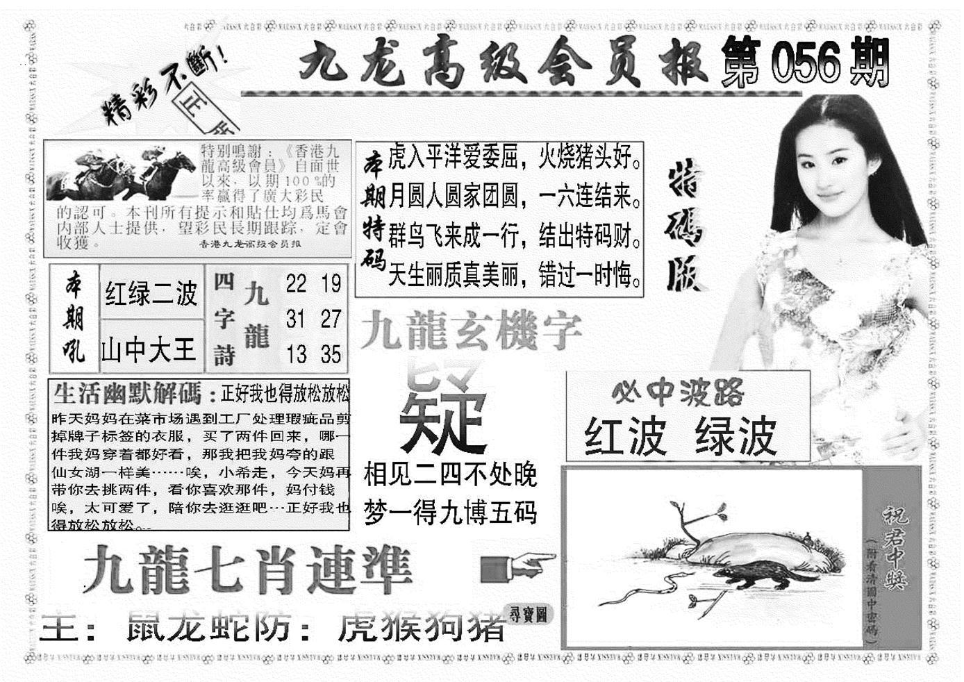 056期九龙高级会员报(黑白)