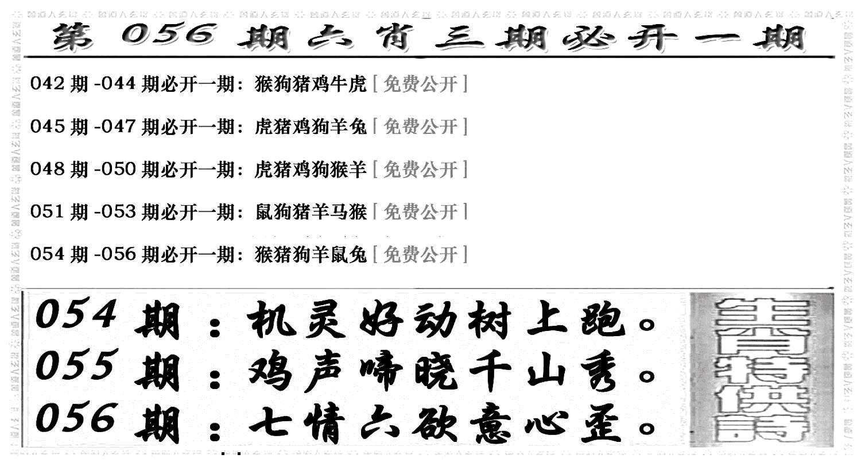 056期六合兴奋剂(黑白)
