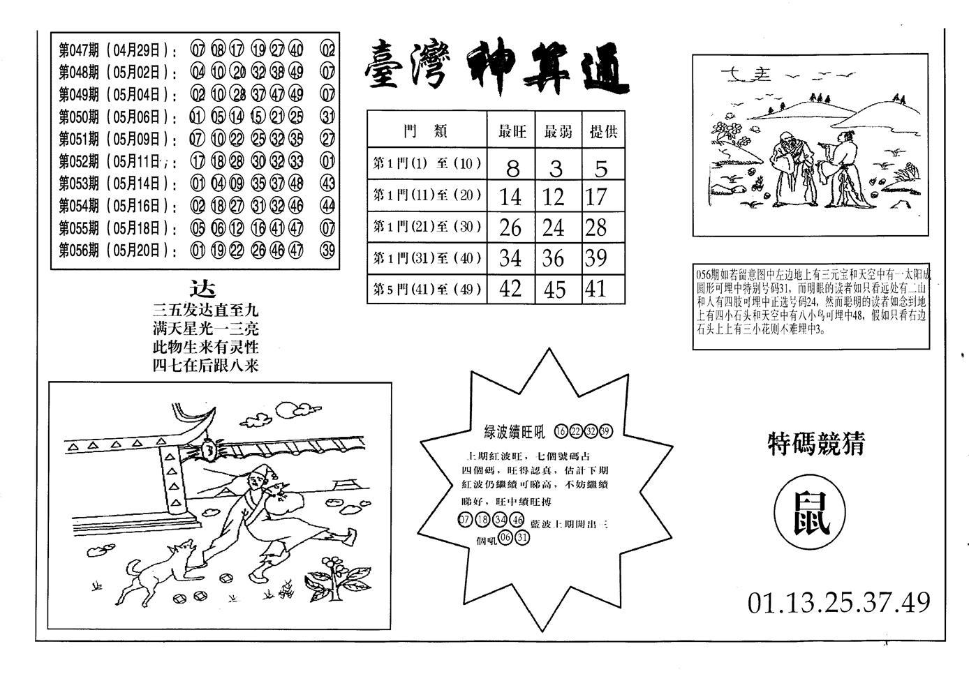 057期老潮汕台湾神算(黑白)
