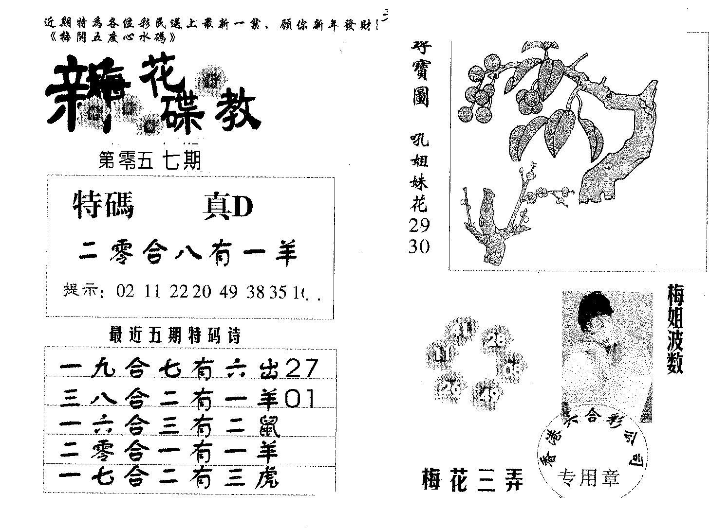 057期新花碟教(黑白)