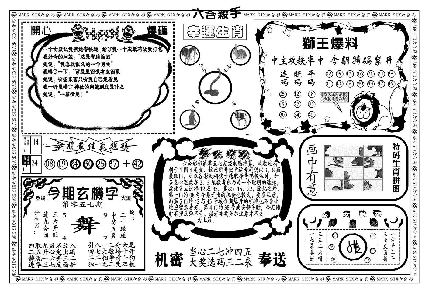 057期新六合杀手B(黑白)