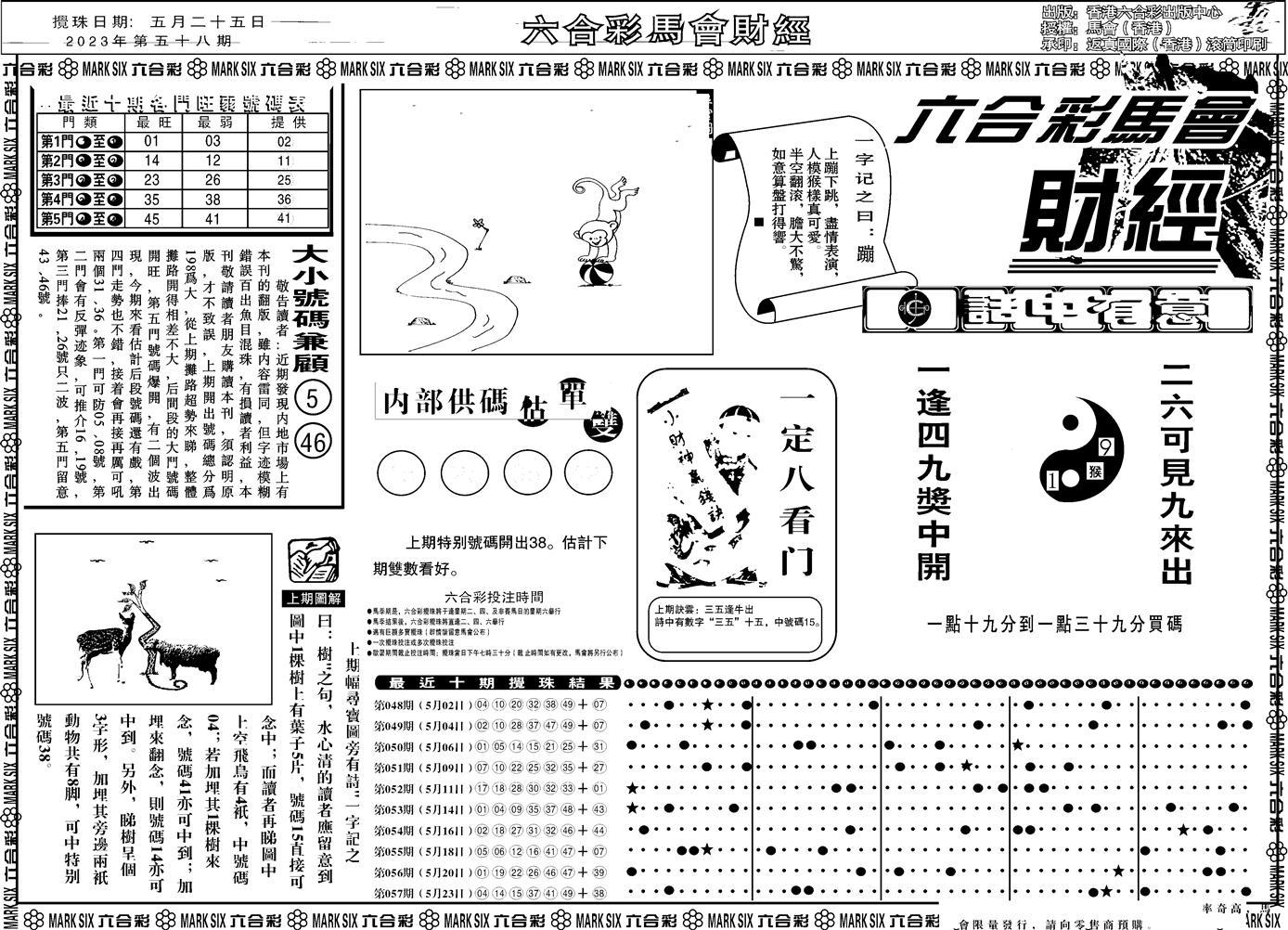 058期马会财经A(黑白)
