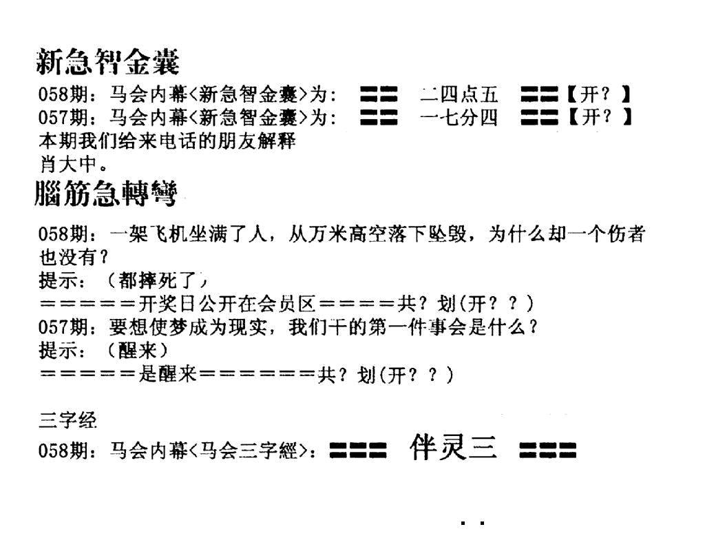 058期新急智金囊(黑白)
