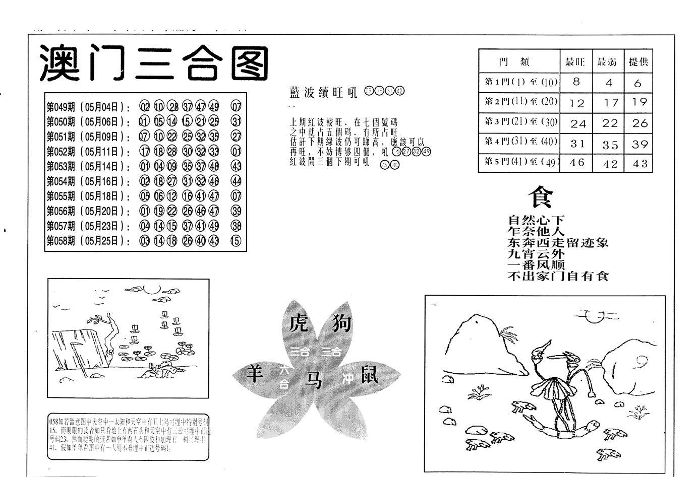 059期老潮汕台湾神算(黑白)