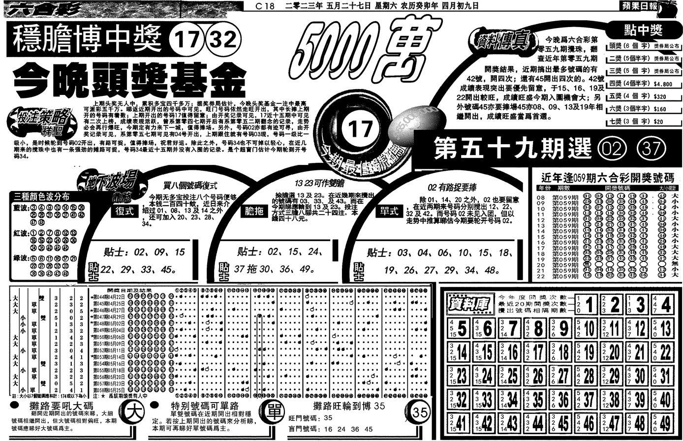 059期当日苹果日报(黑白)