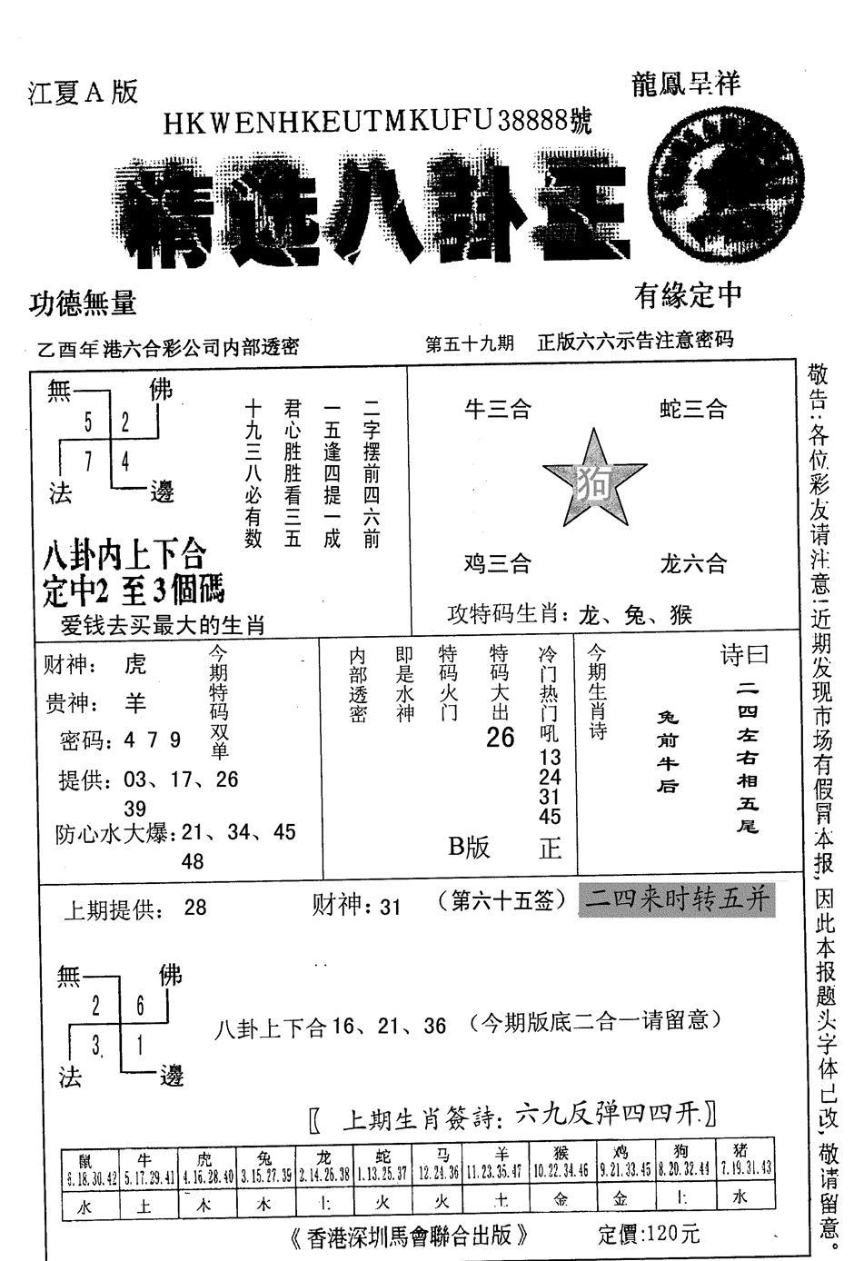 059期精选八卦王