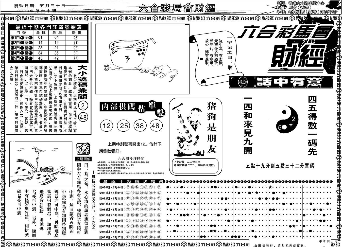 060期马会财经A(黑白)