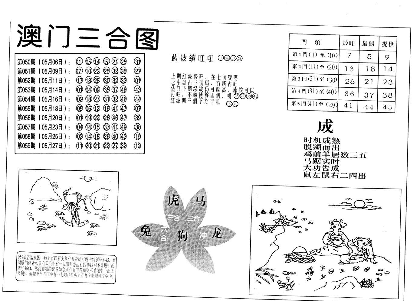 060期老潮汕台湾神算(黑白)