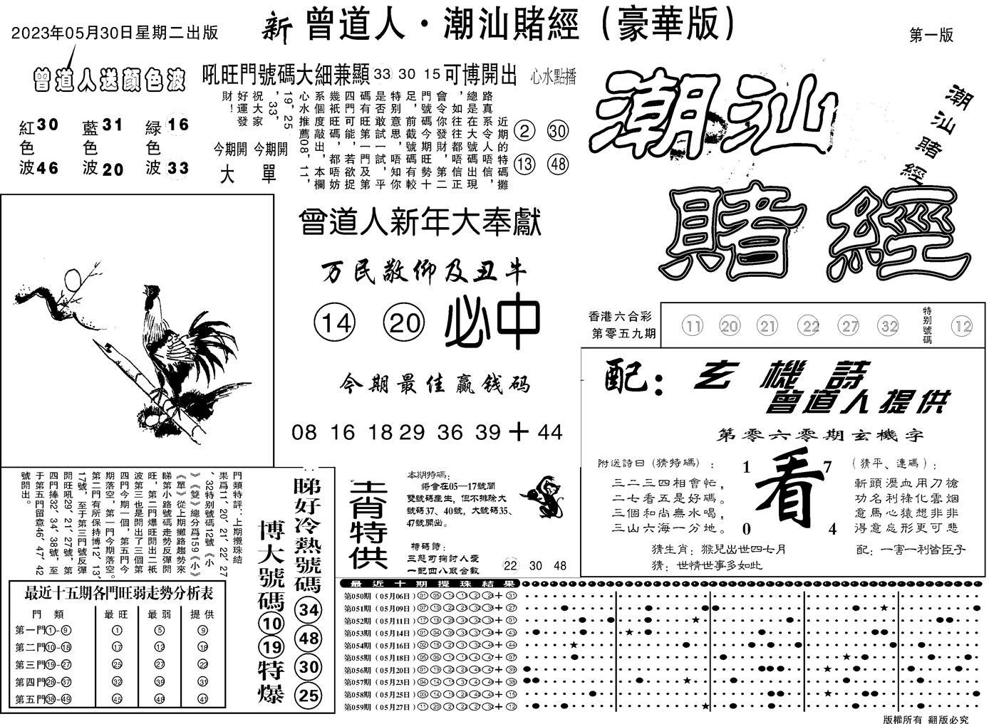 060期潮汕赌经濠华版A(黑白)