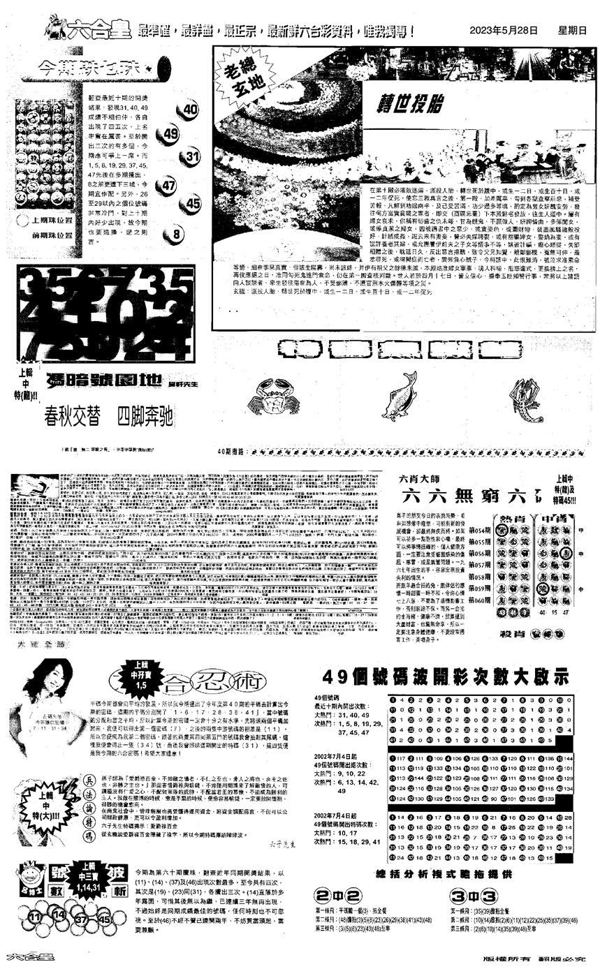 060期大版六合皇D(黑白)