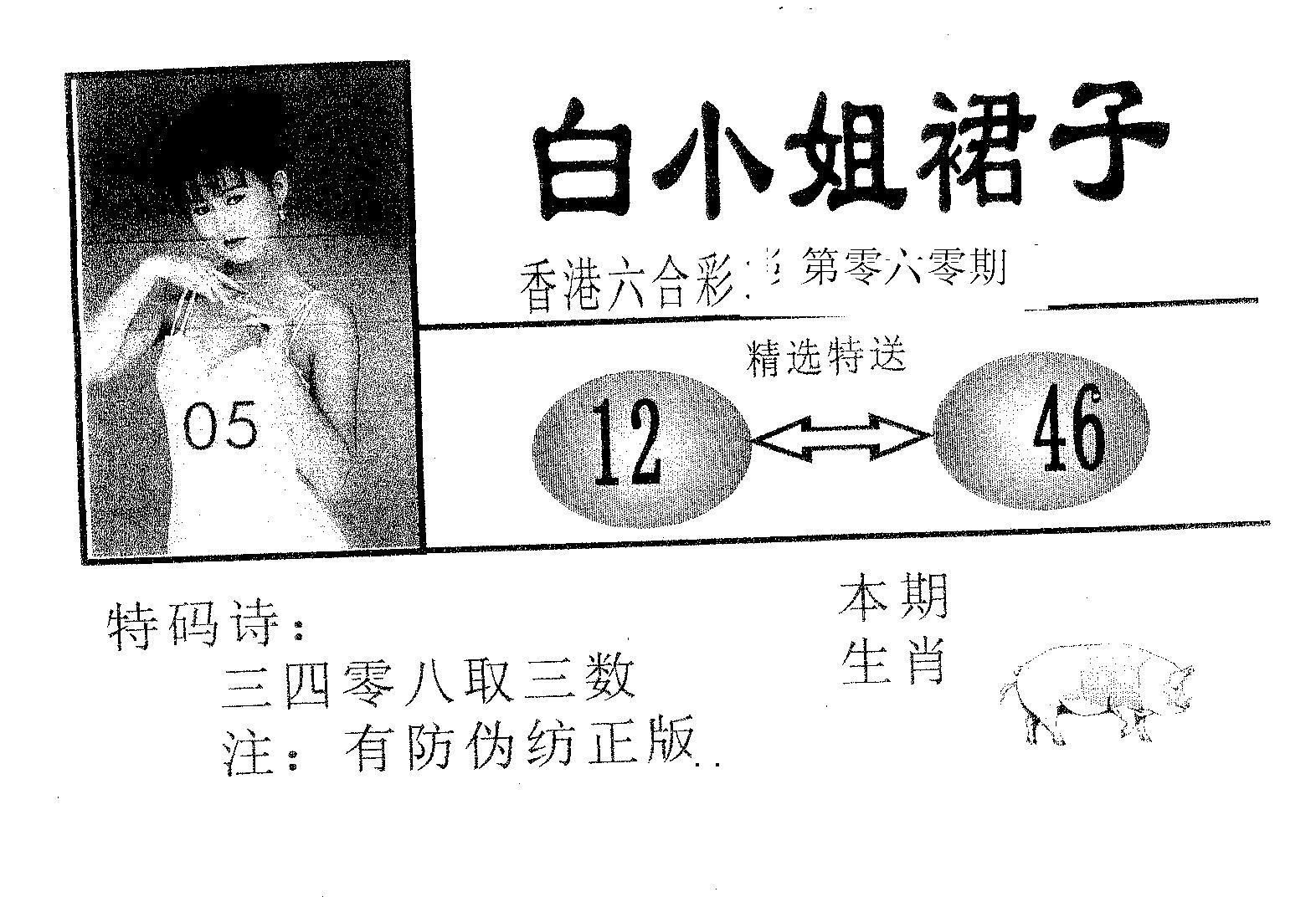 060期白姐裙子(黑白)