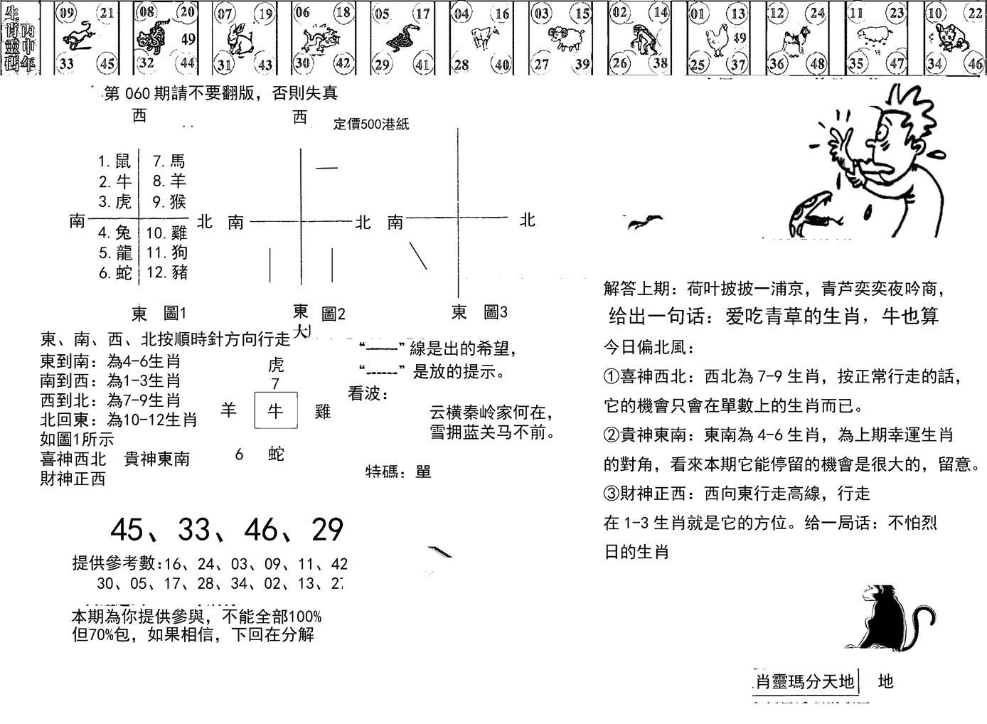 060期正版澳门足球报(黑白)